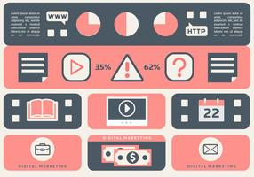 Free Flat Web Marketing Vektor-Illustration