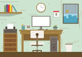 Gratis City Office Concept Vector Illustration