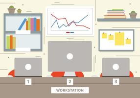 Kostenlose Marketing-Workstation Vektor-Illustration