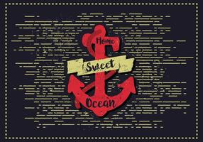Gratis Vintage Anchor Vector Illustration