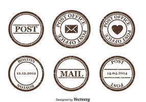 Poststämpel Vector