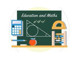 Matemáticas volver a la escuela ilustración vectorial