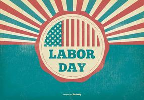 Retro distressed labor day illustration
