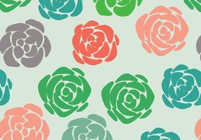 Colorful Succulent Pattern vector