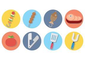 Vetor de ícones de brochetos grátis