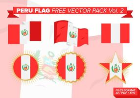 Peru Flag Free Vector Pack Vol. 2