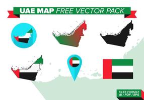 Uae kaart gratis vector pack