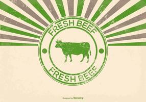 Grunge Frische Rindfleisch Illustration