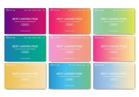 Landing Page Web Kit Linear Gradient Vector