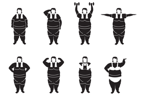 Gratis Fat Woman Vector