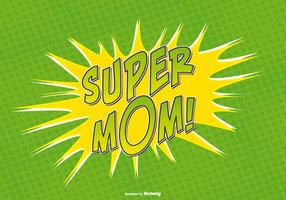 Comic Style Super Mom Illustration vector