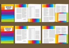 Colorful Annual Report vector