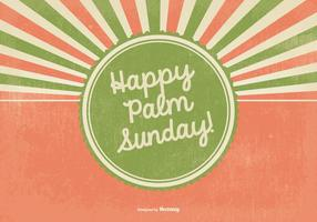 Retro Happy Palm Sunday Illustration