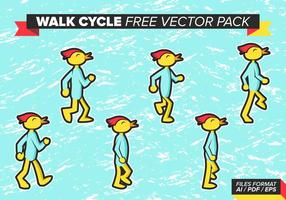 Walk Cycle Free Vector Pack