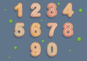Free Numbers Cookies Vector Illustration