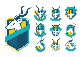 Greater Kudu Badges Vector