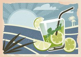 Retro Caipirinha Background Vector