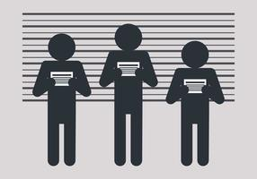 Mugshot with Human Shapes vector