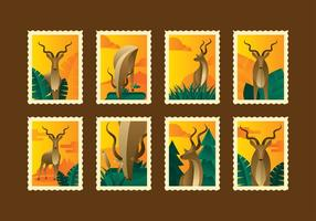 RETRO KUDU STAMP VECTOR