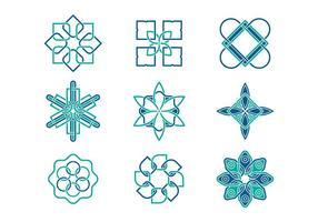 Geometrische Arabeske-Logo-Vektoren