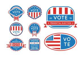 USA presidential elections 2016 buttons vector