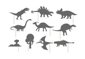 Shadow puppet of dinosaurs vector