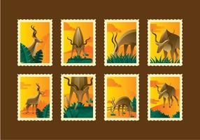 Retro Kudu Stamp Vector Deux