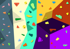 Freie Kletterwand Vektor