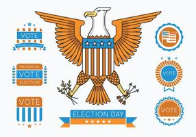 Presidential Badges vector