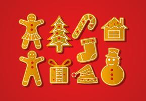 Gratis Kerstmis Lebkuchen Vector