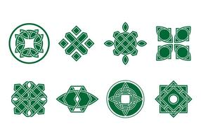 Gratis Grön Celtic Ornament Vector