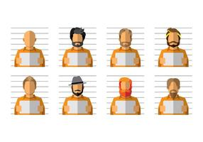 Gratis Mugshot Cartoon Vector