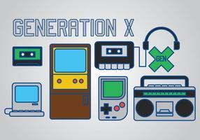 Generación X Vector