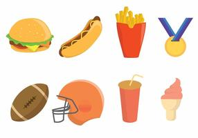 Free Tailgate Party Icon Set