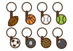 Sport Key Chains Vector