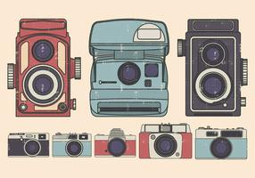 Vintage camera illustratie set
