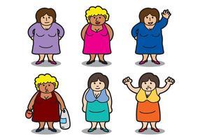 Vetor das mulheres gordas