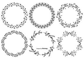 Decorative Vector Leaf Frames