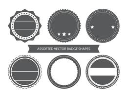 Blank Vintage Badge Shapes vector