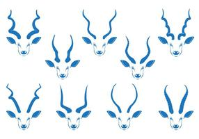 Kudu Cuerno Vector Stock