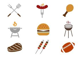 Gratis Tailgating Feast Icons Vector