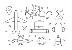 Free Airplane Icons vector