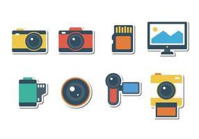 Libere los iconos de la fotografía de la etiqueta