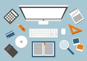 Free Business Manager Workspace Vektor-Illustration