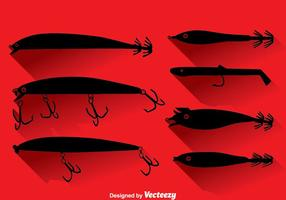 Silhouette Fish Lure Vector Set