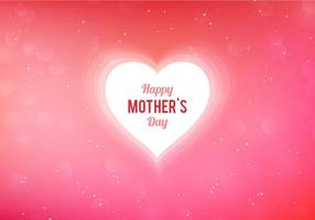 Happy Mothers Day Heart Greeting card vector