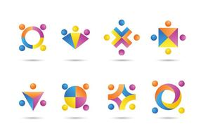Free working together icons