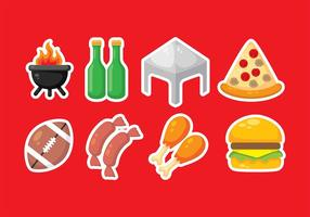 Vector Pictogrammen van de Tailgate Party