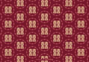 Free Seamless Double Happiness Pattern