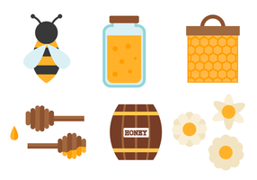 Set vettoriale di miele
